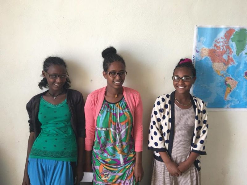 Fundación Carula Education For Girls - Three girls that are now able to see well